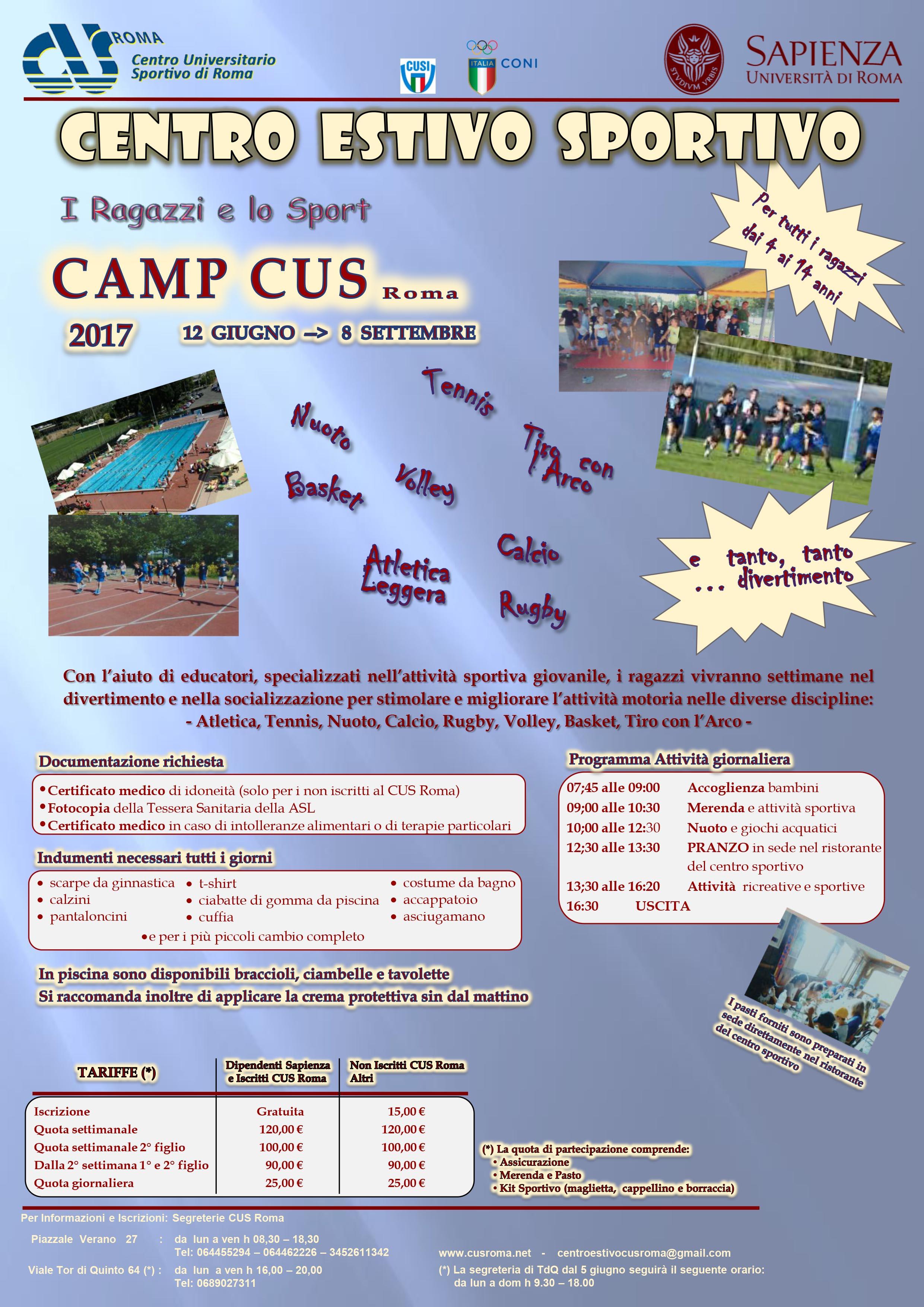 Centro Estivo CAMPCUS 2017